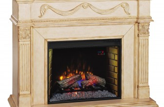 ClassicFlame Gossamer, semineu electric, focar 28 inch, Antique Ivory